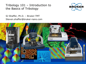 Tribology 101 – Introduction to the Basics of Tribology