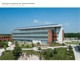Golisano Institute for Sustainability Rochester Institute of Technology