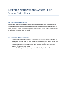Learning Management System (LMS) Access Guidelines