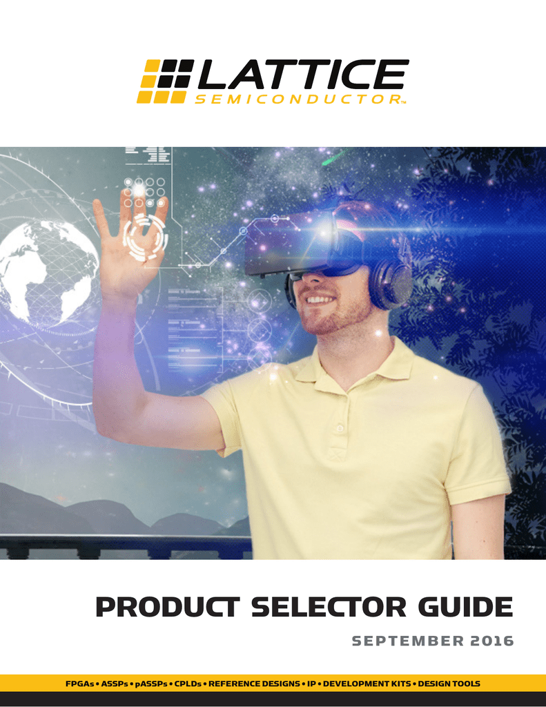 Product Selector Guide - Lattice Semiconductor