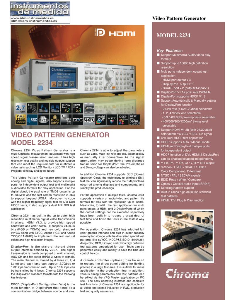 Video Pattern Generator ModeL 2234