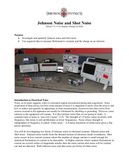 Johnson Noise and Shot Noise