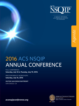 2016 acs nsqip annual conference