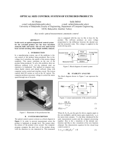 OPTICAL SIZE CONTROL SYSTEM OF EXTRUDED PRODUCTS