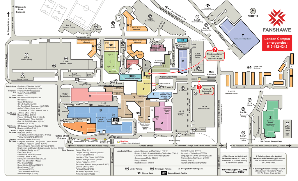 Fanshawe College Campus Map Campus Map   Fanshawe College