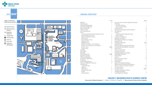 GENERAL DIRECTORY SITE MAP WALTER C. MACKENZIE