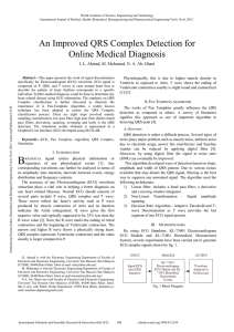 An Improved QRS Complex Detection for Online Medical Diagnosis