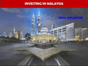 Malaysia investment outlook and economic corridors