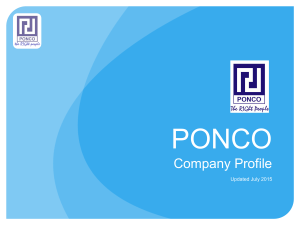 Click on the image to Ponco company profile