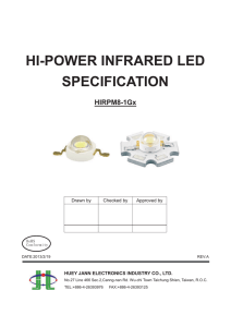 hi-power infrared led specification
