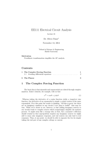 EE111 Electrical Circuit Analysis