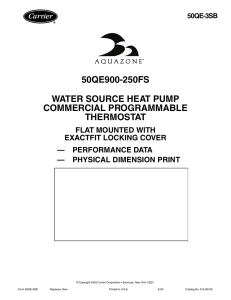 50qe900-250fs water source heat pump commercial programmable