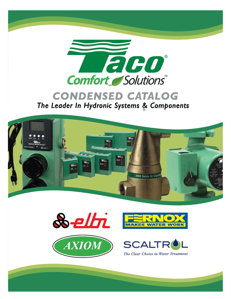 Table Of Contents Taco Circulator 00 Series Wiring Diagram