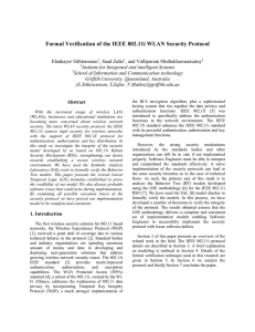 Formal Verification of the IEEE 802.11i WLAN Security Protocol