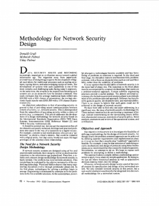 Methodology for network security design