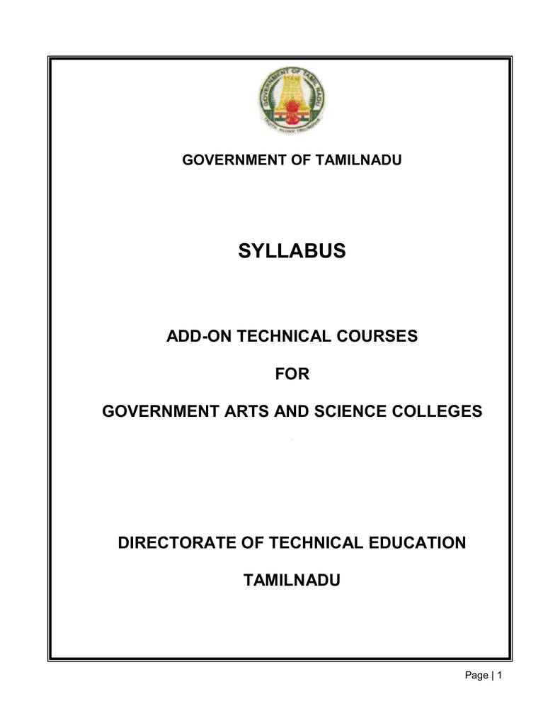 d94d6b2be1cc26 add-on course regulations and syllabus