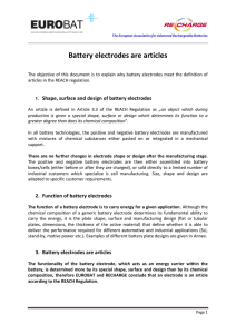 Battery electrodes are articles