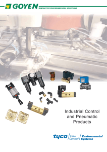 Goyen Industrial Control and Pneumatic Products Catalog