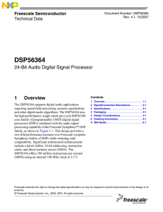 DSP56364 24-Bit Audio Digital Signal Processor