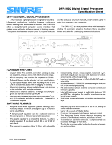 DFR11EQ Digital Signal Processor Specification Sheet