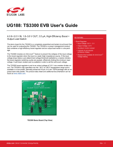 TS3300 EVB User`s Guide -- UG188