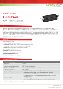 150-450W Programmable LED Driver