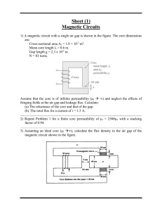 Sheet (1) Magnetic Circuits