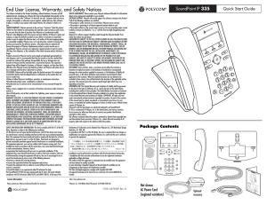 Polycom SoundPoint IP 335 Quick Start Guide