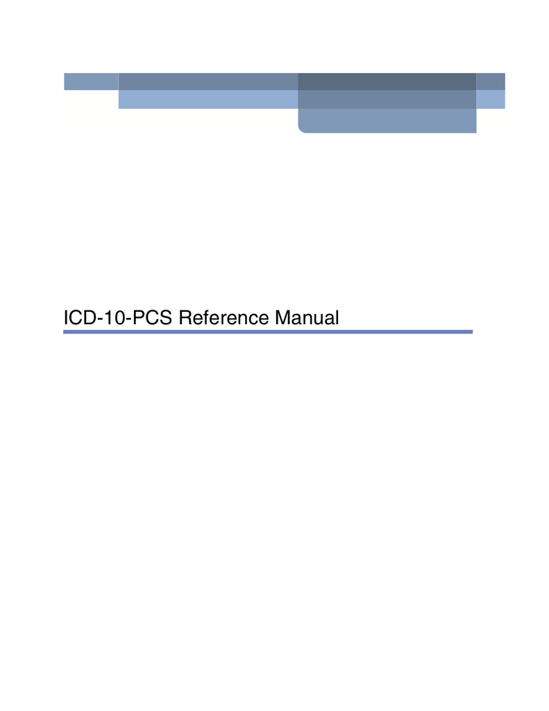 Icd 10 Pcs Reference Manual