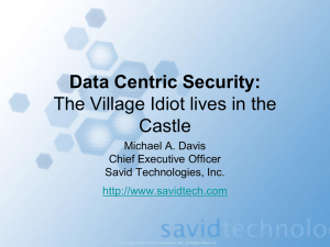 Data Centric Security - Information Technology and Management