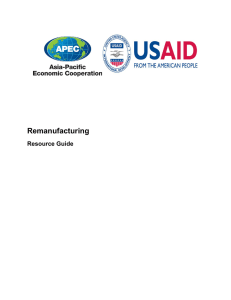 Remanufacturing Resource Guide - Asia