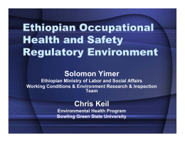 Ethiopian Occupational Health and Safety Regulatory Environment