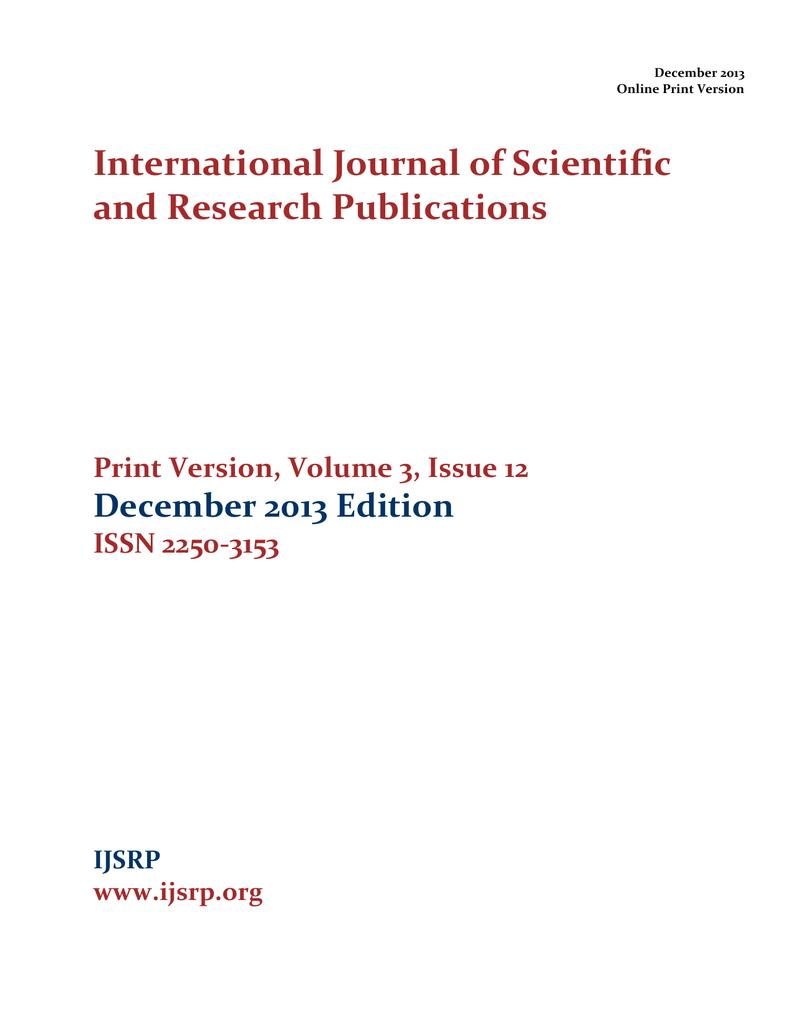 Ijsrp december 2013 print edition ijsrp inc fandeluxe Image collections