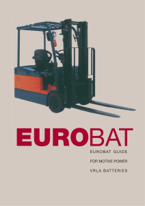 eurobat guide for motive power vrla batteries - EnerSys