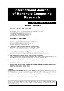 International Journal of Handheld Computing Research