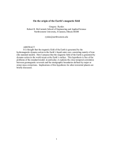 On the origin of the Earth`s magnetic field
