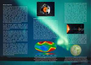 Mission objectives Earth`s magnetic field