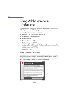 Using Adobe Acrobat X Professional
