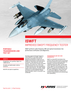 Improved Swept Frequency Tester (ISWFT)