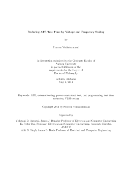 Reducing ATE Test Time by Voltage and Frequency Scaling by