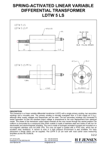 spring-activated linear variable differential transformer