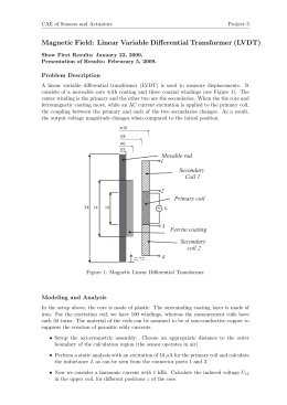 Magnetic Field: Linear Variable Differential Transformer (LVDT)