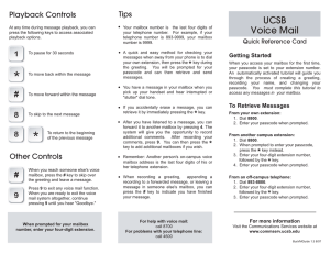 UCSB Voice Mail - Communications Services