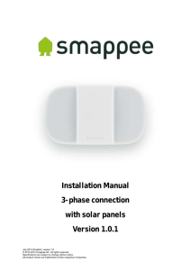 Installation Manual 3-phase connection with solar panels Version