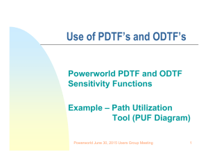 PTDF and OTDF Sensitivity Functions