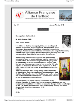 newsletter - Alliance Française de Hartford