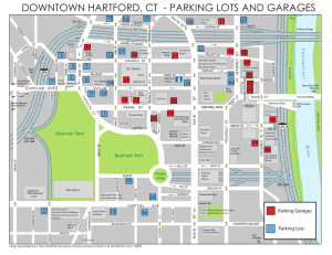 DOWNTOWN HARTFORD, CT - PARKING LOTS AND GARAGES
