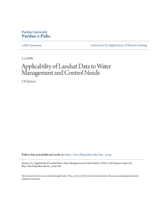 Applicability of Landsat Data to Water Management - Purdue e-Pubs