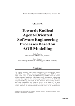 Towards Radical Agent-Oriented Software Engineering Processes