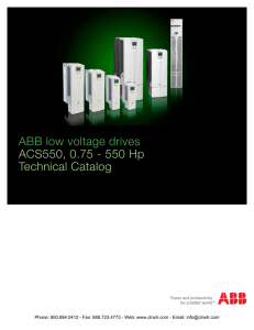 ABB ACS550 Drives Technical Catalog